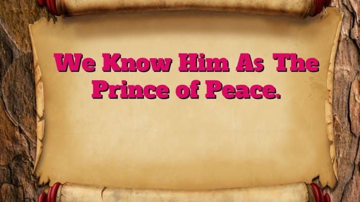 The Fruit of Peace